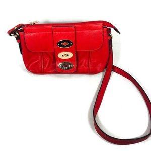 "Charming Charlie Red Small Handbag 11"" Purse"